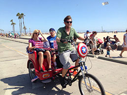 Pedicab tours in Santa Monica, Venice, Marina Del Rey and all of Los Angeles